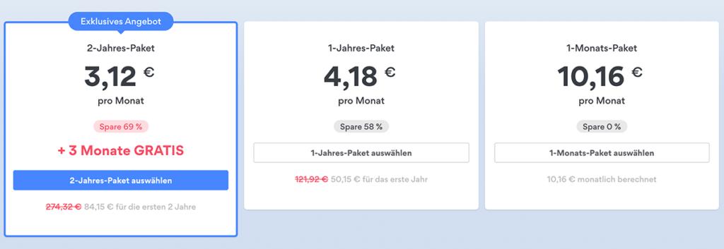 NordVpn paket